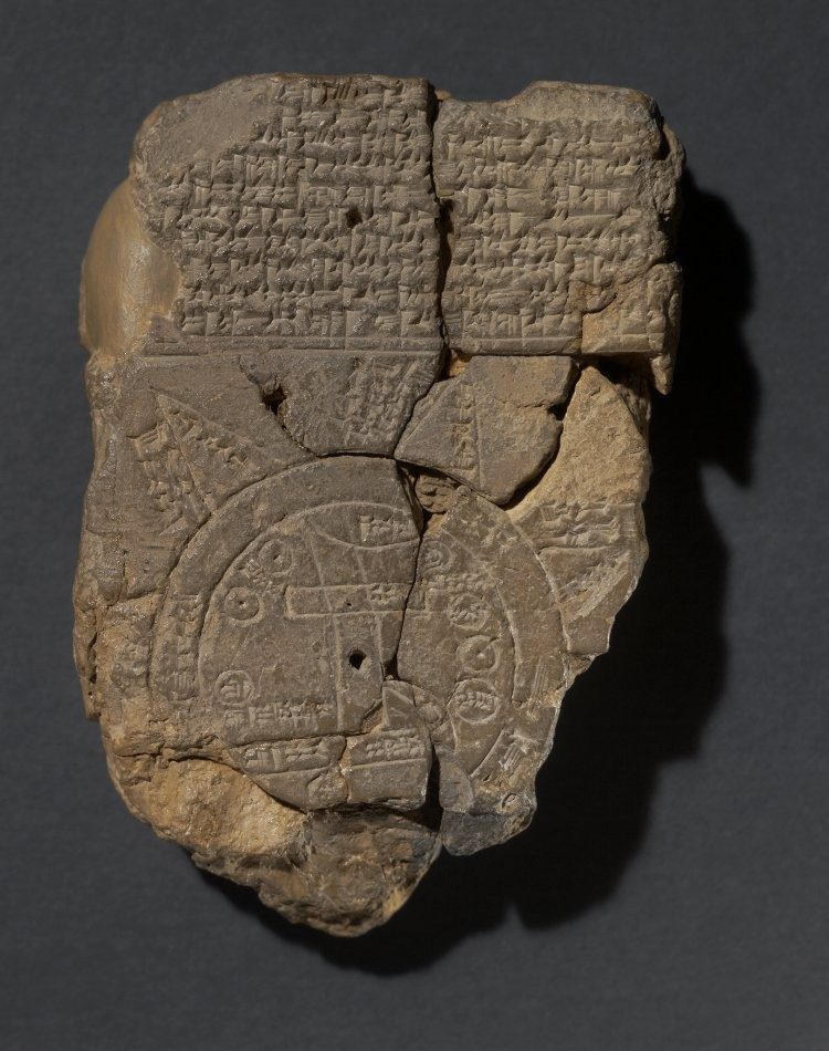 Mapa babilônico em argila (Foto: Reprodução)
