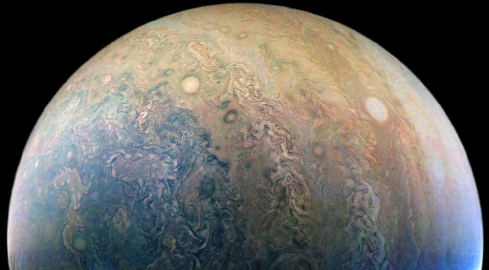 (Foto: The eyes of Jupiter. NASA/JPL-Caltech/SwRI/MSSS/Craig Sparks)