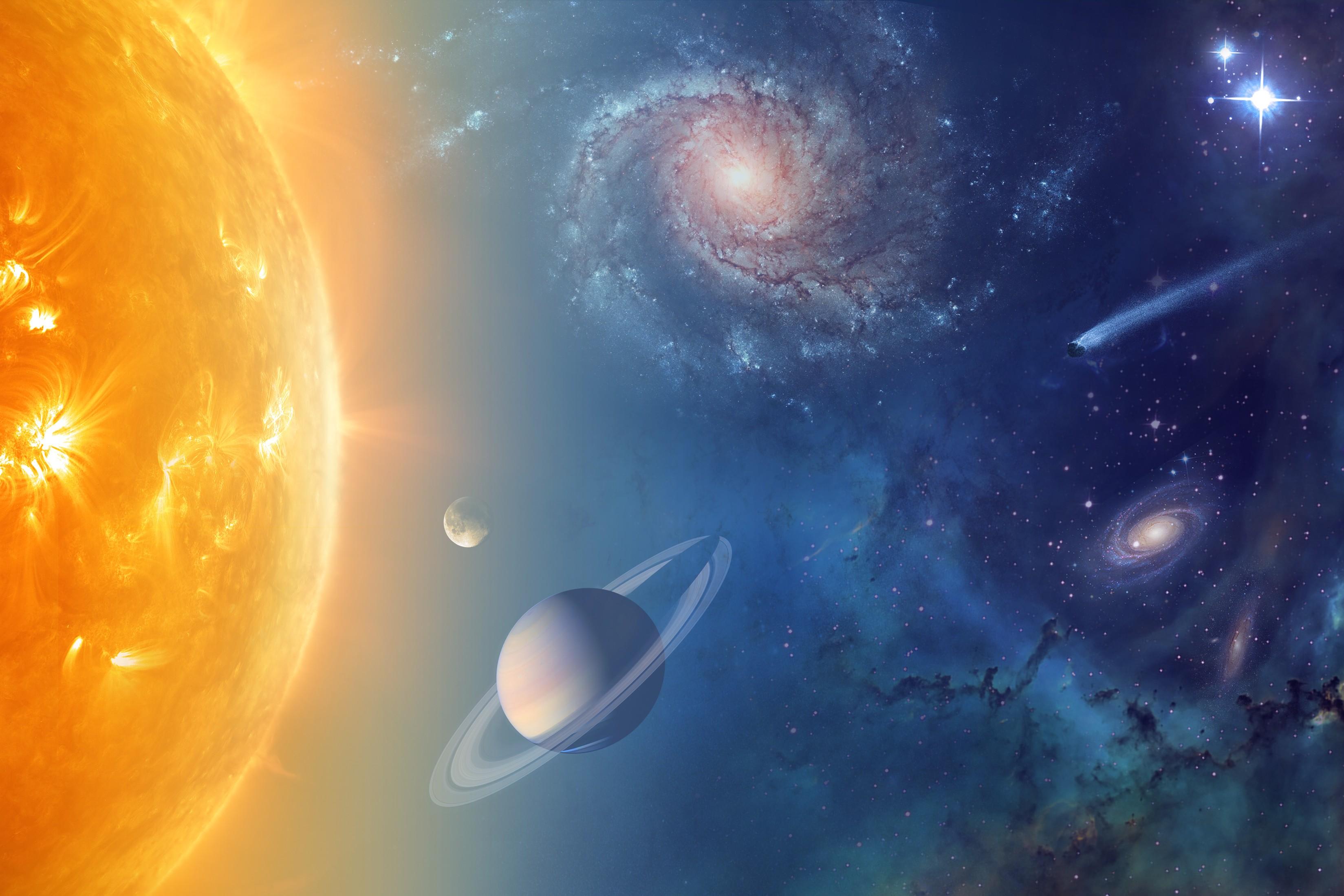 Sistema Solar em projeção da NASA (Foto: NASA)