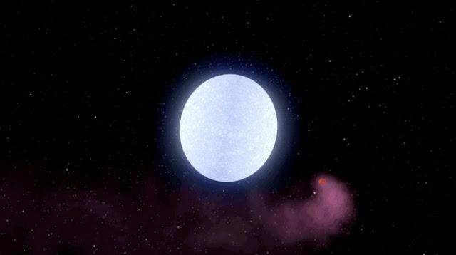 KELT-9b orbitando sua estrela hospedeira
