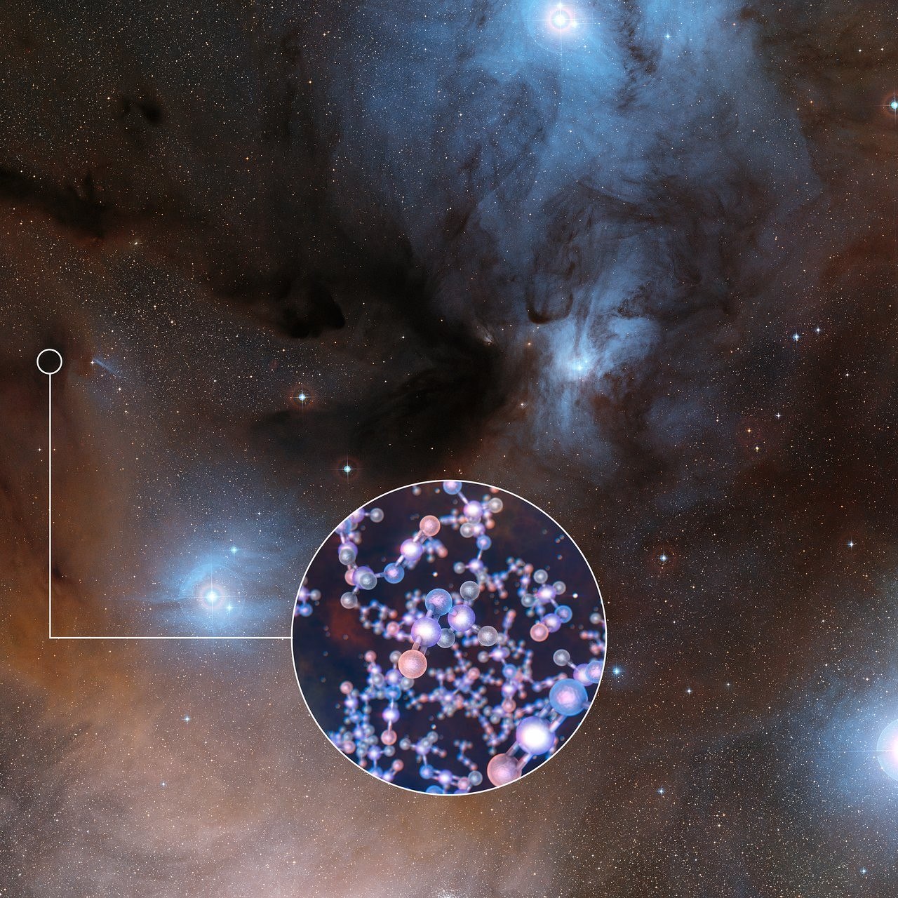 Molécula foi detectada em um conjunto de estrelas jovens (Foto: Divulgação/ESO)