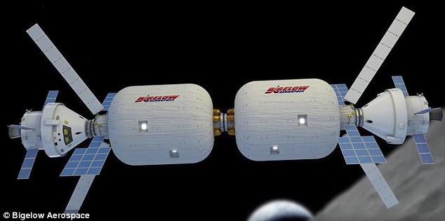 Na foto é uma imagem do conceito de uma das naves espaciais infláveis que a empresa do Sr. Bigelow Bigelow Aerospace propôs. O magnata não especificou exatamente o quanto ele passou a pesquisar os estrangeiros, e se recusou a comentar quaisquer encontros UFO pessoais