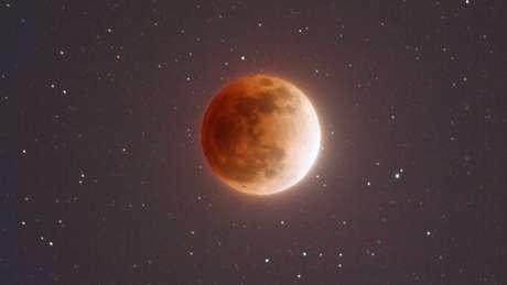 Ilustração da Nasa mostra como a Lua aparecerá em 31 de janeiro para quem estiver em pontos específicos, como a ocsta oeste americana | Foto: Nasa