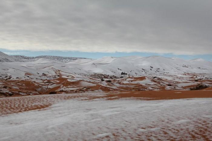 Neve no deserto do Sahara (6)
