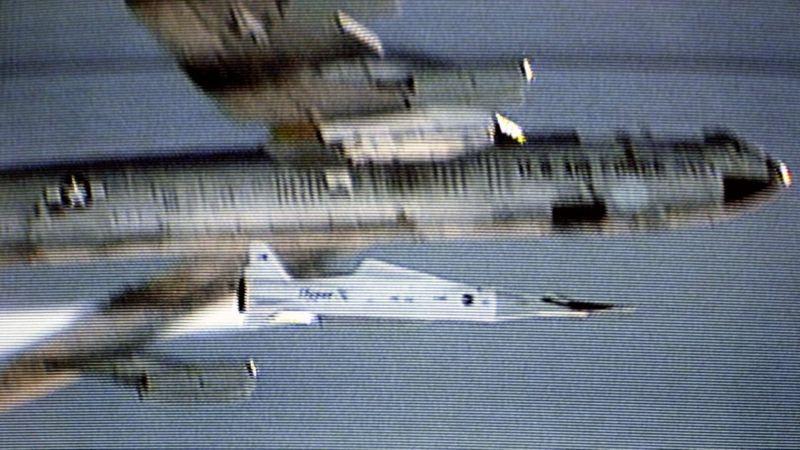 Imagem da Nasa do teste do X-43A em 16 de novembro de 2004