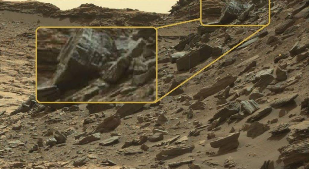estrutura artificial encontrada em Marte